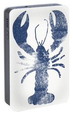 Blue Lobster- Art By Linda Woods Portable Battery Charger by Linda Woods