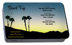 Blue Sky Sunset From A Desert Trip Portable Battery Charger by Desiderata Gallery