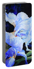 Blue Summer Iris Portable Battery Charger by Hanne Lore Koehler
