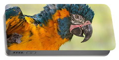 Blue Throated Macaw Portable Battery Charger by Jamie Pham