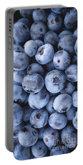 Blueberries Foodie Phone Case Portable Battery Charger by Edward Fielding