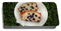 Blueberry Bread Portable Battery Charger by Linda Woods