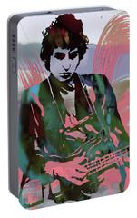 Bob Dylan Modern Etching Art Poster Portable Battery Charger by Kim Wang