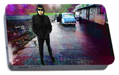 Bob Dylan No Direction Home 1 Portable Battery Charger by Tony Rubino