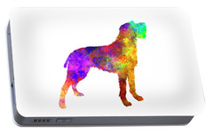 Bohemian Wirehaired Pointing Griffon In Watercolor Portable Battery Charger by Pablo Romero