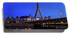 Boston Garden And Zakim Bridge Portable Battery Charger by Rick Berk