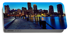 Boston Harbor Walk Portable Battery Charger by Rick Berk