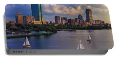 Boston Skyline Portable Battery Charger by Rick Berk