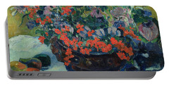 Bouquet Of Flowers Portable Battery Charger by Paul Gauguin