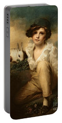 Boy And Rabbit Portable Battery Charger by Sir Henry Raeburn