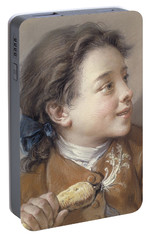 Boy With A Carrot, 1738 Portable Battery Charger by Francois Boucher