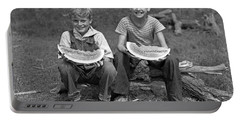 Boys Eating Watermelons, C.1940s Portable Battery Charger by H. Armstrong Roberts/ClassicStock