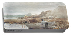 Boys On The Beach Portable Battery Charger by Winslow Homer