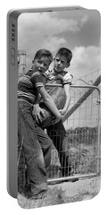 Boys Stealing A Watermelon, C.1950s Portable Battery Charger by H. Armstrong Roberts/ClassicStock