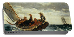 Breezing Up Portable Battery Charger by Winslow Homer