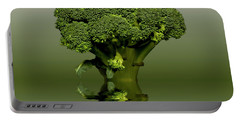 Broccoli Green Veg Portable Battery Charger by David French