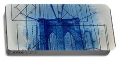 Brooklyn Bridge Portable Battery Charger by Jane Linders
