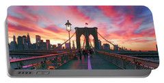 Brooklyn Sunset Portable Battery Charger by Rick Berk