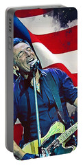 Bruce Springsteen Portable Battery Charger by Afterdarkness