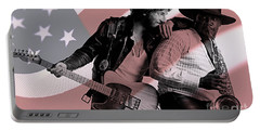 Bruce Springsteen Clarence Clemons Portable Battery Charger by Marvin Blaine