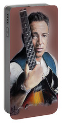 Bruce Springsteen Portable Battery Charger by Melanie D