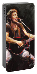 Bruce Springsteen  Portable Battery Charger by Ylli Haruni