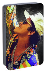 Bruno Mars Portable Battery Charger by Semih Yurdabak