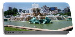 Buckingham Fountain Portable Battery Charger by Anita Burgermeister