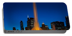 Buckingham Fountain Nightlight Chicago Portable Battery Charger by Steve Gadomski