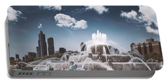 Buckingham Fountain Portable Battery Charger by Scott Norris