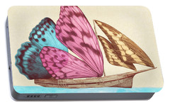 Butterfly Ship Portable Battery Charger by Eric Fan
