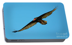 Buzzard Circling Portable Battery Charger by Mike Dawson