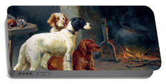 By The Fire Portable Battery Charger by Alfred Duke
