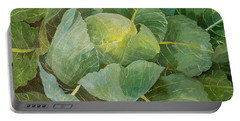 Cabbage Portable Battery Charger by Jennifer Abbot