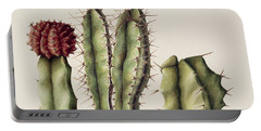 Cacti Portable Battery Charger by Annabel Barrett