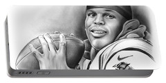 Cam Newton Portable Battery Charger by Greg Joens