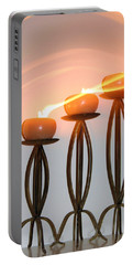 Candles In The Wind Portable Battery Charger by Kristin Elmquist