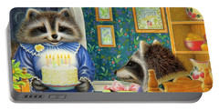 Candles On The Cake Portable Battery Charger by Lynn Bywaters