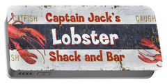 Captain Jack's Lobster Shack Portable Battery Charger by Debbie DeWitt