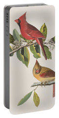 Cardinal Grosbeak Portable Battery Charger by John James Audubon