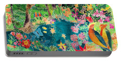 Caribbean Jungle Portable Battery Charger by Hilary Simon