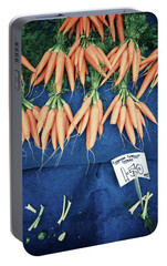 Carrots At The Market Portable Battery Charger by Tom Gowanlock