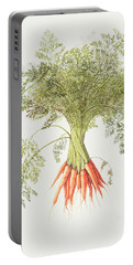 Carrots Portable Battery Charger by Margaret Ann Eden