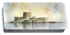Castle Of Bourtzi In Nafplio Portable Battery Charger by Juan Bosco