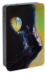 Cat Eye Portable Battery Charger by Michael Creese
