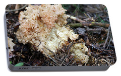 Cauliflower Fungus Portable Battery Charger by Michal Boubin