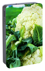 Cauliflower Head Portable Battery Charger by Teri Virbickis