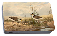 Cayley Masked Lapwing. Vanellus Miles Portable Battery Charger by Neville Henry Penniston