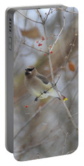 Cedar Wax Wing 2 Portable Battery Charger by David Arment