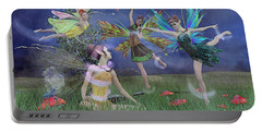 Celebration Of Night Alice And Oz Portable Battery Charger by Betsy Knapp